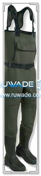 Couleur unie en néoprène chest waders -021