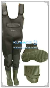 Plain color neoprene fishing wader -026