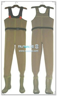 Plain color neoprene chest wader -034