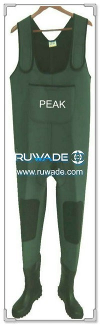 Plain color neoprene chest fishing wader -043