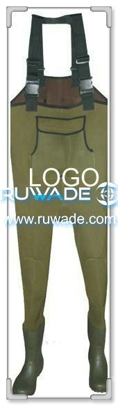 Plain color neoprene chest fishing wader -047