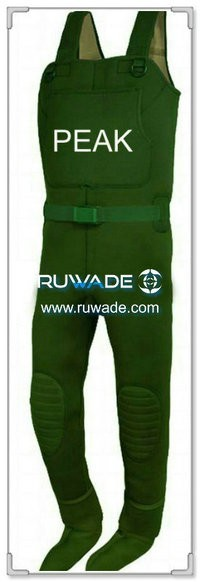 Plain color neoprene chest fishing wader -059