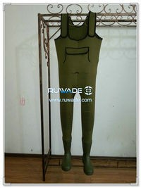 Plain color neoprene chest fishing wader -060