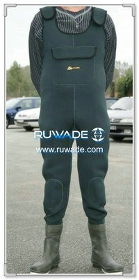 Plain color neoprene chest fishing wader -063