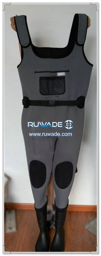 Plain color neoprene chest fishing wader -076