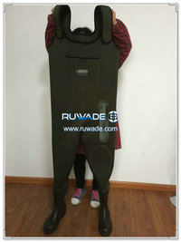 Plain color neoprene chest fishing wader -077