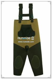 Plain color neoprene chest fishing wader -078