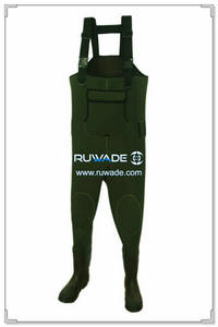 Plain color neoprene chest fishing wader -079