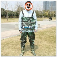 Camo PVC chest fishing wader -001