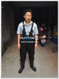 PVC chest fishing wader -006