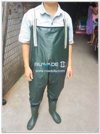 PVC chest fishing wader -007