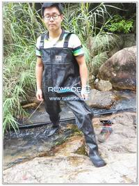 PVC chest fishing wader -008