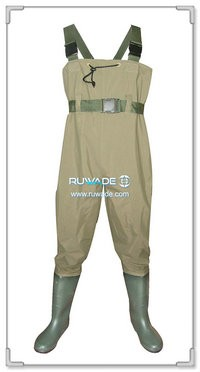 Nylon pvc chest fishing wader -001