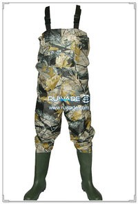 Nylon pvc chest fishing wader -002
