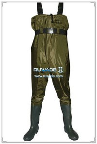 Nylon pvc chest fishing wader -003