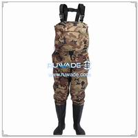 Camo nylon pvc chest fishing wader -012