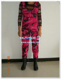 Pink camo neoprene chest fishing wader -008