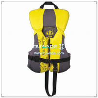 Kids Children nylon life float vest jacket -009