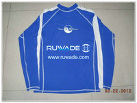 UV50+ long sleeve lycra rash guard shirt -002
