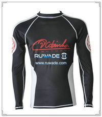 Jiujishu long sleeve lycra rash guard shirt -088