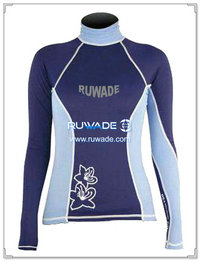 UV50   Frauen Lycra rash Guard Langarm -091