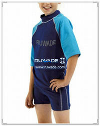 UV 50+ boy one piece rash guard suit with back zipper -010