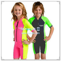 UV 50+ girl one piece rash guard suit with front zipper -011