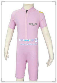 UV 50+ ragazza one piece rash guard tuta con cerniera frontale -014
