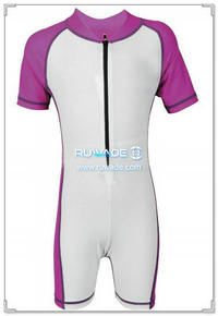 UV 50+ costume de rash guard one piece enfant avec fermeture-éclair avant -002