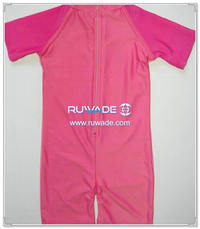 UV 50+ girl one piece rash guard suit with back zipper -007