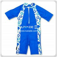 UV 50+ children one piece rash guard suit with front zipper -009