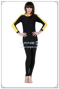 UV 50+ one piece rash guard suit with front zipper -015