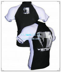Uv50   camiseta de protector impetuoso de lycra de manga corta -048