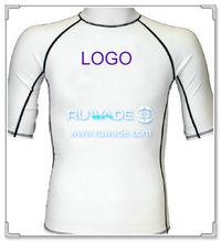 UV50+ short sleeve lycra rash guard shirt -058