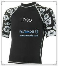 UV50 + قصيرة الأكمام قميص حارس طفح جلدي ليكرا -062