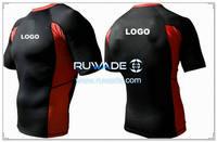 UV50   짧은 소매 라이크라 발진 가드 셔츠 -077