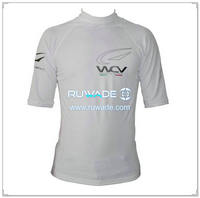 SPF50+ men short sleeve lycra rash guard shirt -186