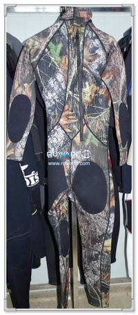 Camouflage wetsuits completo cerniera posteriore -143