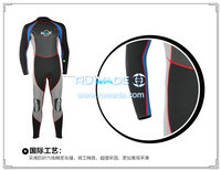 Wetsuits de mergulho cheios de volta do zipper -160
