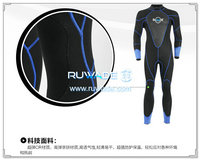 Wetsuits de mergulho cheios de volta do zipper -163