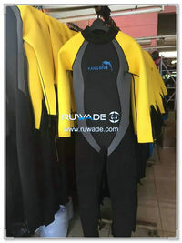 Wetsuits de mergulho cheios de volta do zipper -165