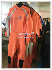 Wetsuits de mergulho cheios de volta do zipper -166