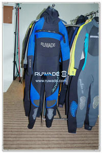 Hooded chest zip surfing suit -003-2