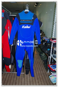Neoprene full wetsuit with chest zip -002
