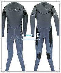 Chest zip neoprene scuba diving wetsuit -006