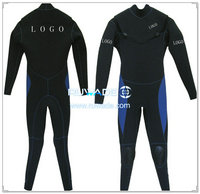 Scuba diving wetsuit with chest zip -008