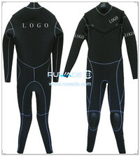 Chest zip surfing suit -009