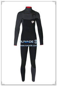 Chest zip neoprene surfing suit -013-01