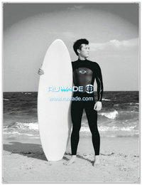 Chest zip neoprene surfing suit -015-3