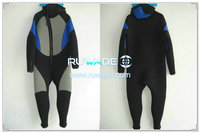 Hooded front zip diving suits -002